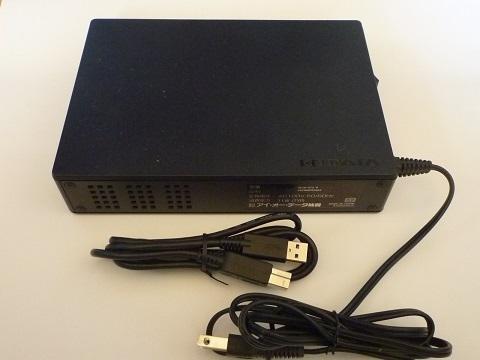 外付けHDD 2TB I-O DATA HDJA-UT2.0 (USB 3.1 Gen 1(USB 3.0)/USB 2.0) 動作良好エラーなし(電源内臓型)
