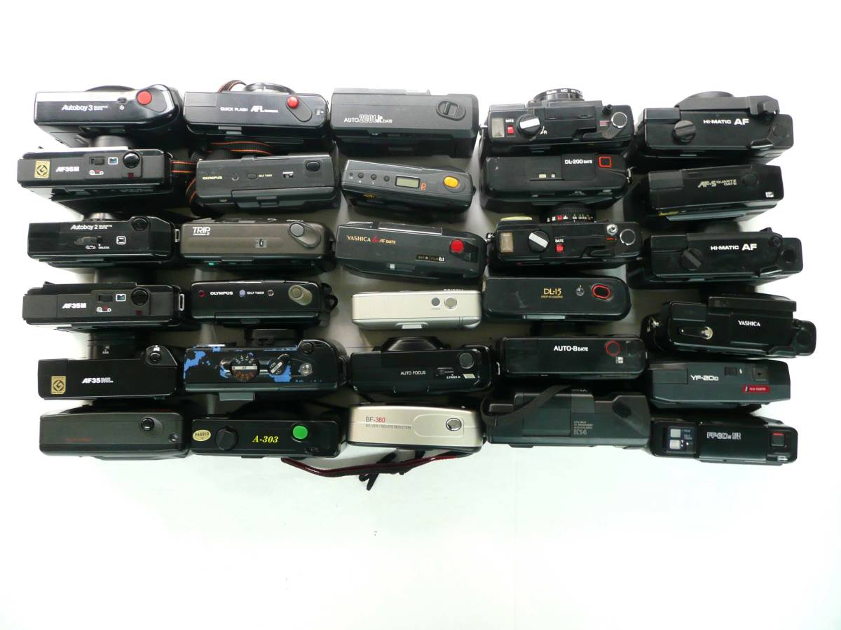 【ジャンク カメラ】 単焦点コンパクトカメラ Canon FUJI Konica 等計30台セット (J847M) 同梱発送不可_画像3