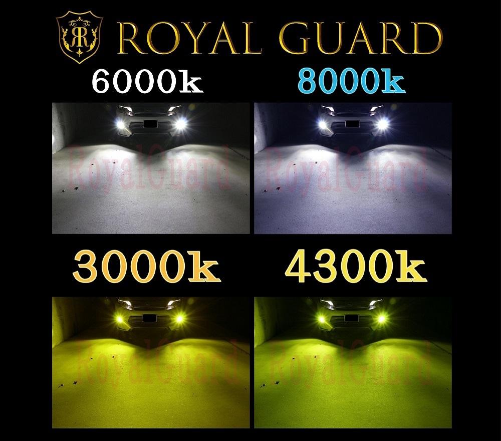 新製品 正規品 Royal Guard 18000LM 車検対応 3000k 4300k 6000k LED ヘッドライト H4 HI/LO LEDフォグ H8 H11 H16_画像6