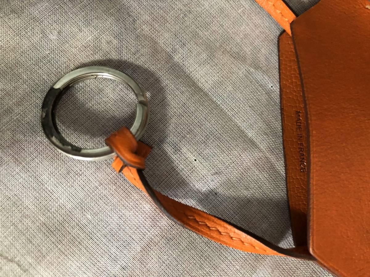 エルメス HERMES 小物 レザー オレンジ クロシェット/キーリング付き クロシェット ロングネックレス_画像3