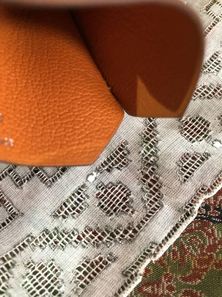 エルメス HERMES 小物 レザー オレンジ クロシェット/キーリング付き クロシェット ロングネックレス_画像7