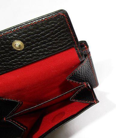 ■B126 新品 定価14,040円 カステルバジャック CASTELBAJAC 牛革二つ折り財布 KAMONマーク_画像8