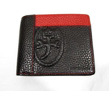 ■B126 新品 定価14,040円 カステルバジャック CASTELBAJAC 牛革二つ折り財布 KAMONマーク_画像2