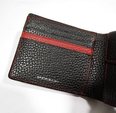 ■B126 新品 定価14,040円 カステルバジャック CASTELBAJAC 牛革二つ折り財布 KAMONマーク_画像7