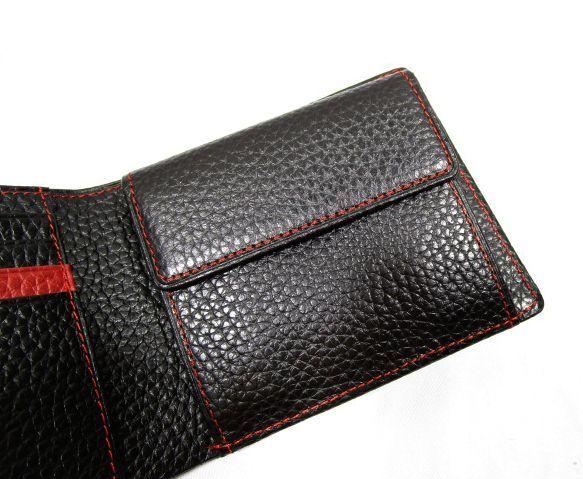 ■B126 新品 定価14,040円 カステルバジャック CASTELBAJAC 牛革二つ折り財布 KAMONマーク_画像6