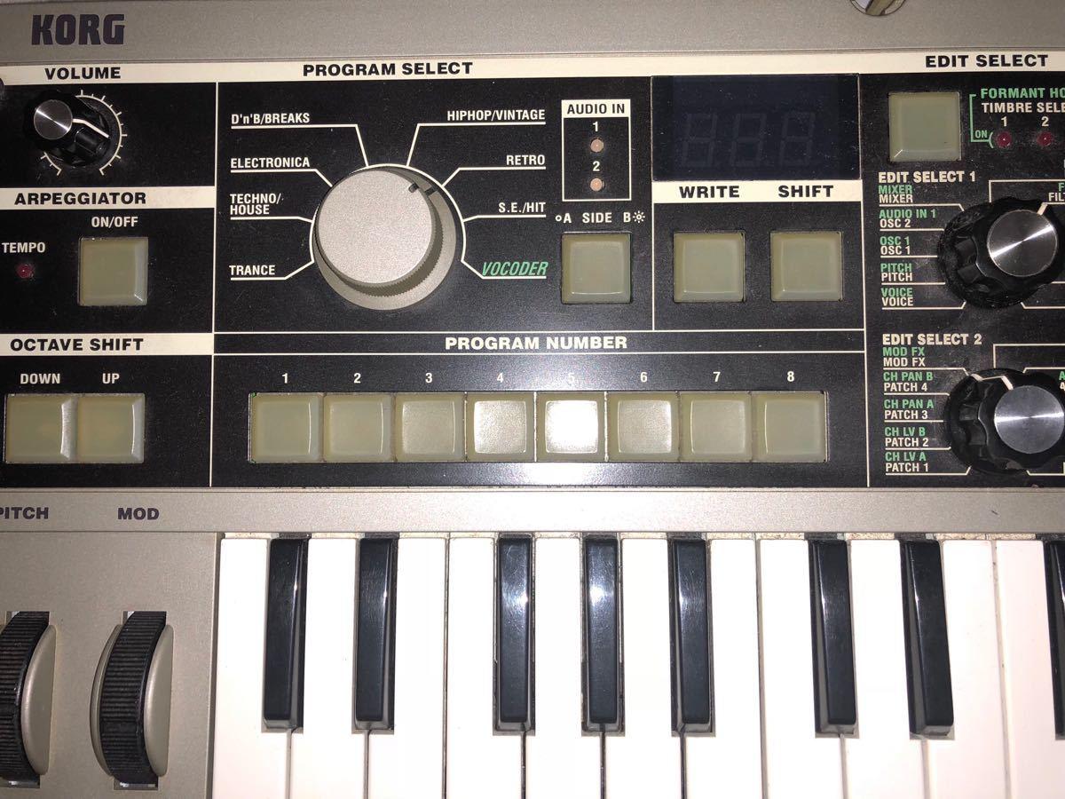 Korg コルグ microkorg synthesizer マイクロコルグ ボコーダー シンセサイザー micro korg