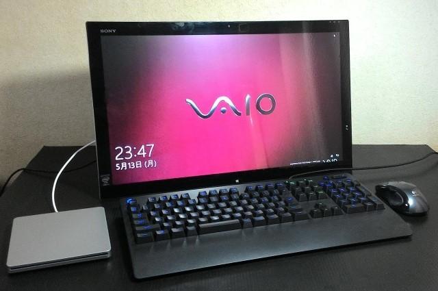 SONY VAIO TAP21 ( SVT21218DJB )/i5-4200U /8GB /256GB SSD + 2TB HDD /21.5インチ FHD /BDドライブ