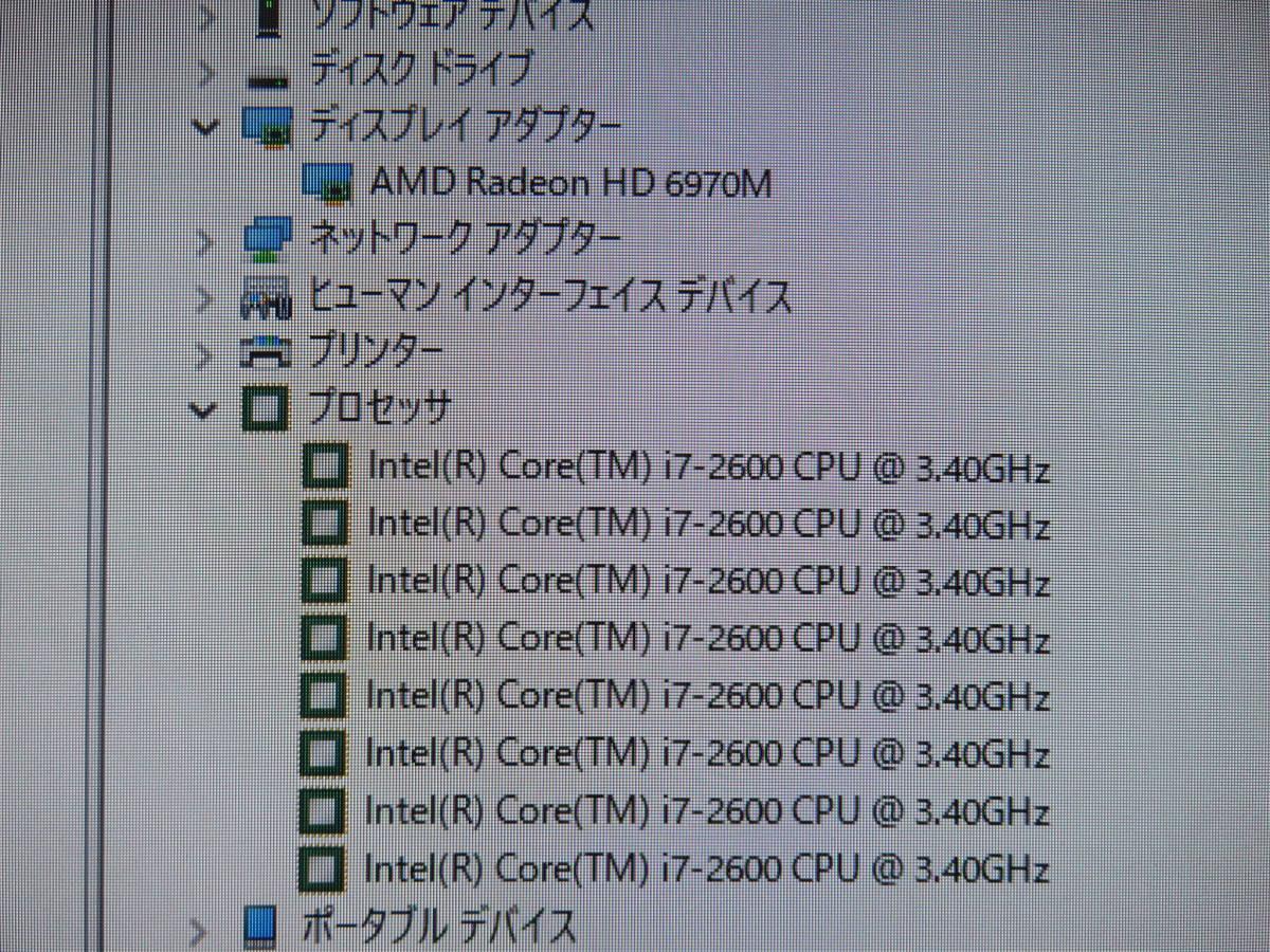 iMac A1312 ◆中古美品◆高性能 Core i7 / 高速起動SSD 512GB / 16GB◆27型◆ダブル最新 macOS & Windows10◆Adobe , Office付き◆Mid 2011_画像7