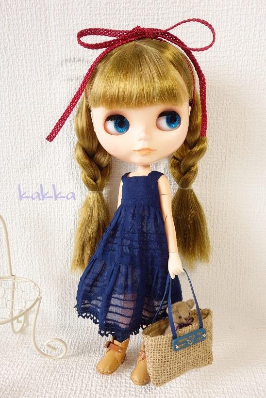 ★ブライスアウトフィット★Blythe outfit★リネンの刺繍のお洋服★_画像6