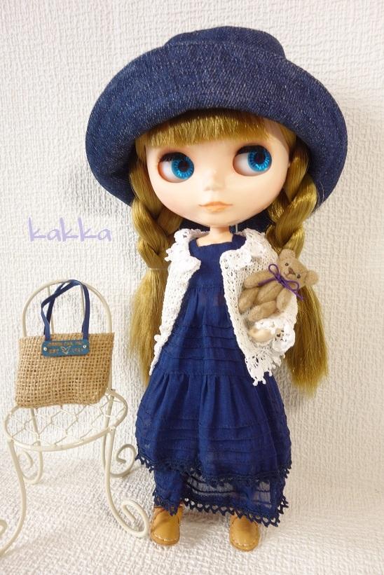 ★ブライスアウトフィット★Blythe outfit★リネンの刺繍のお洋服★_画像7
