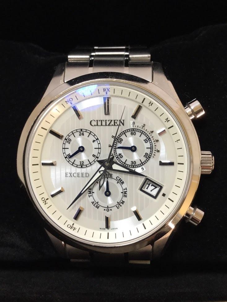○CITIZEN シチズン EXCEED エクシード E610-T018980 メンズ gn-4w-s 時計 WATCH ソーラー電波腕時計_画像9