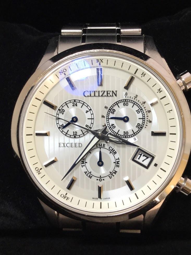 ○CITIZEN シチズン EXCEED エクシード E610-T018980 メンズ gn-4w-s 時計 WATCH ソーラー電波腕時計_画像2
