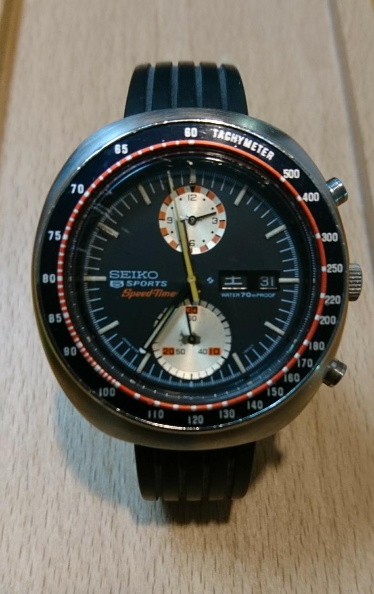 セイコー 5スポーツ スピードタイマー 腕時計 SEIKO 5SPORTS Speed-Timer127513 動作確認済み ファイブスポーツ 70's 自動巻クロノグラフ_画像1