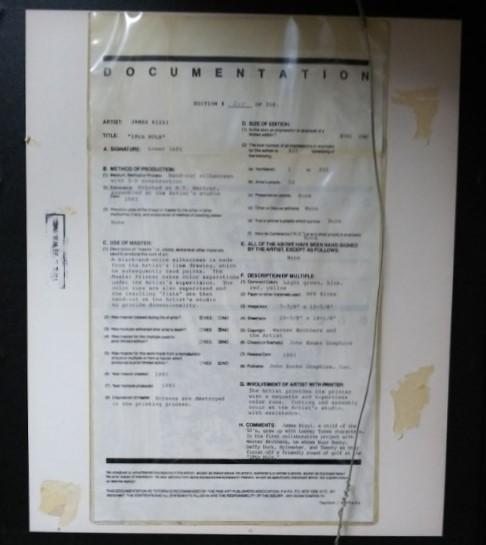 限定品208/350 ジェームス・リジィ 3Dアート シルクスクリーン 『18th HOLE』 ワーナー・ブラザース コラボ 作家サインあり※USED品/貴重品_画像5