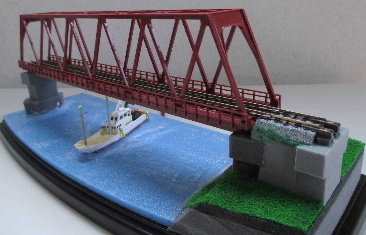 【ジオラマ】 トラス鉄橋ライトアップ (展示ケース) ※展示車両、電源アダプタ・リモコン付属_画像6