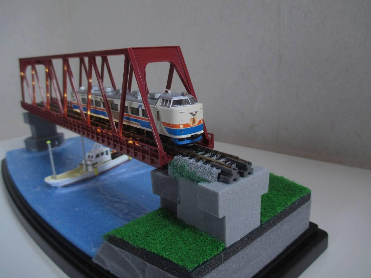 【ジオラマ】 トラス鉄橋ライトアップ (展示ケース) ※展示車両、電源アダプタ・リモコン付属_画像7