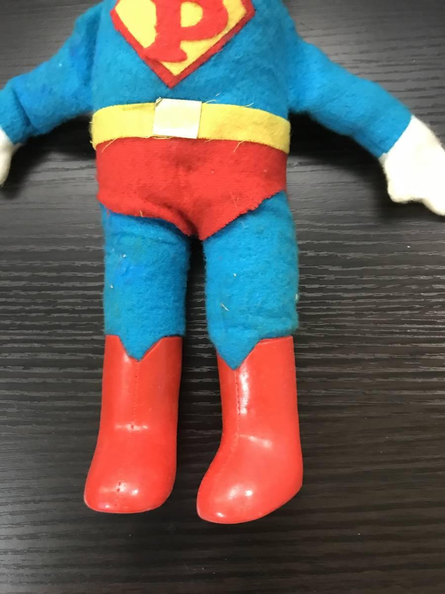 不二家 ペコちゃん ソフビ スーパーマン ヴィンテージ レトロ 青良01 0522_画像2