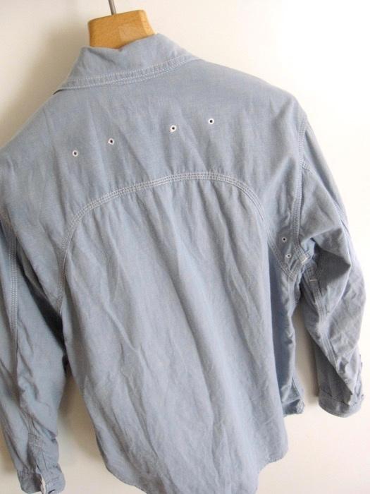 【SASSAFRAS ササフラス】定番 シャンブレー ワークシャツ L!!_画像4