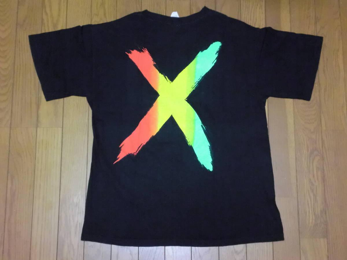 ビンテージ 90s USA製 マルコムX Tシャツ L ブラック 黒 ラスタカラー スパイクリー 40acres クロスカラーズ _画像2
