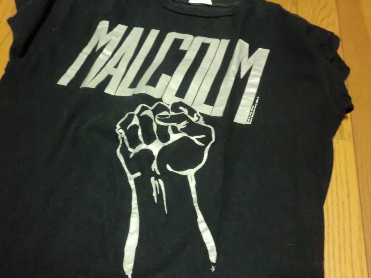 ビンテージ 90s USA製 マルコムX Tシャツ L ブラック 黒 ラスタカラー スパイクリー 40acres クロスカラーズ _画像4