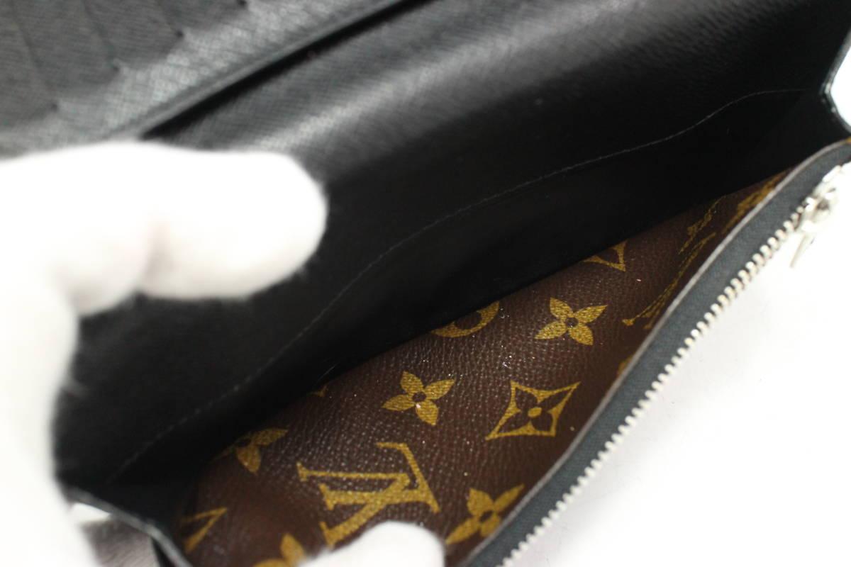 1円~【LV本物】2つ折り長財布/モノグラムマカサー/ポルトフォイユ・タノン【X329T_画像9