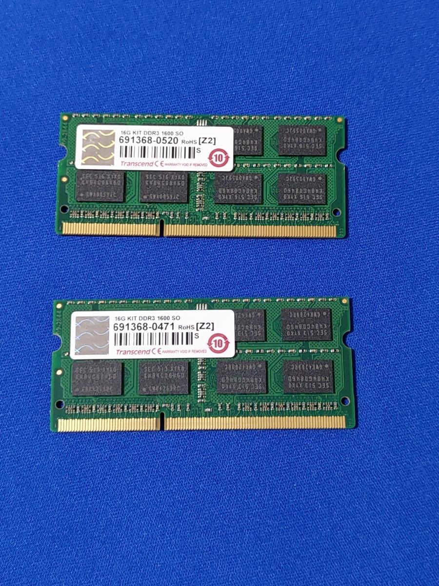 ★中古部品★ Mac mini 2012 late DDR3-1600 S.O.DIMM メモリー 16GB(8GB×2枚)