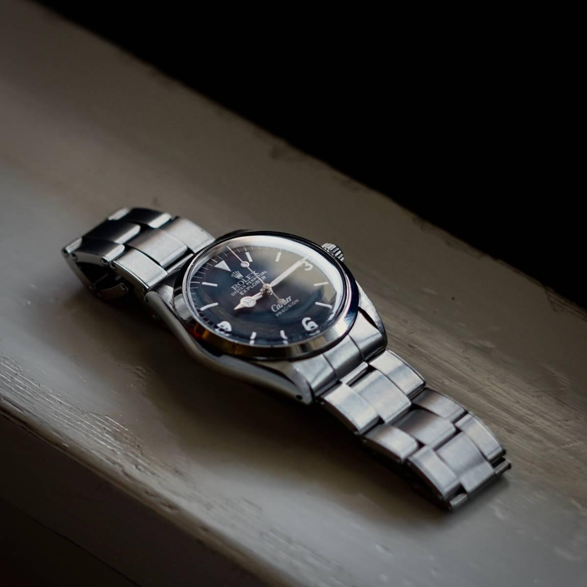 超美品 Rolex 5500 Explorer Cartier Wネーム カルティエ ロレックス エクスプローラー 5500 リダン OH済 仕上げ済 リベットブレス_画像4