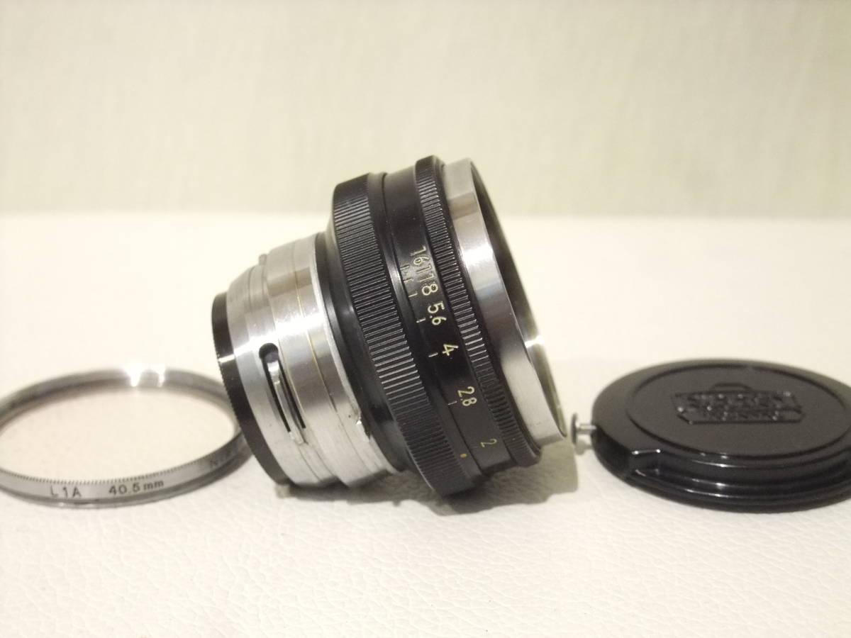 ★ニコン NIKKOR-H 5cm F2 (50mm F2) NIKON Sシリーズ レンジファインダーカメラ S S2 S3 S4 SP等用 後期ブラックモデル 難あり品★_画像2