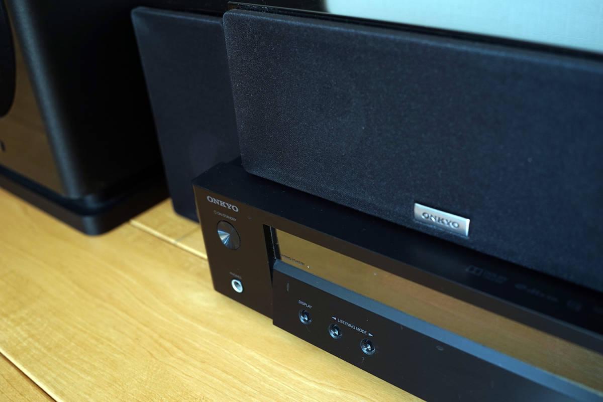 【美品】ONKYO シネマパッケージ 2.1ch ハイレゾ音源対応 ブラック BASE-V50(B) + センタースピーカーシステム ブラック D-109C_画像3