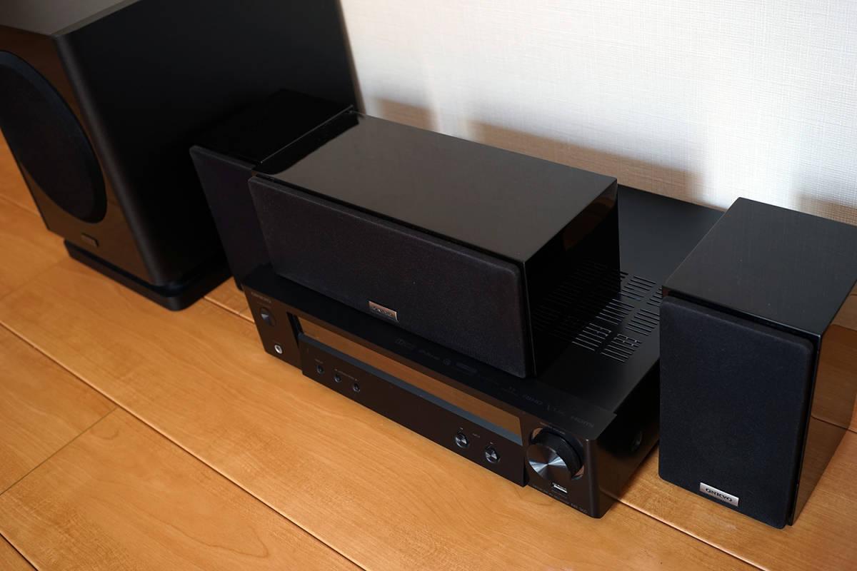【美品】ONKYO シネマパッケージ 2.1ch ハイレゾ音源対応 ブラック BASE-V50(B) + センタースピーカーシステム ブラック D-109C_画像2