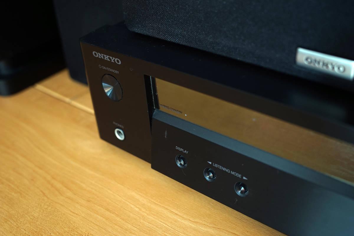 【美品】ONKYO シネマパッケージ 2.1ch ハイレゾ音源対応 ブラック BASE-V50(B) + センタースピーカーシステム ブラック D-109C_画像4