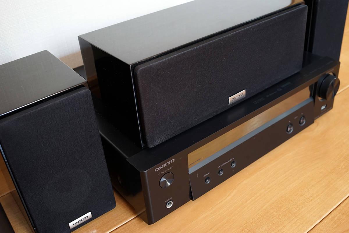 【美品】ONKYO シネマパッケージ 2.1ch ハイレゾ音源対応 ブラック BASE-V50(B) + センタースピーカーシステム ブラック D-109C_画像7