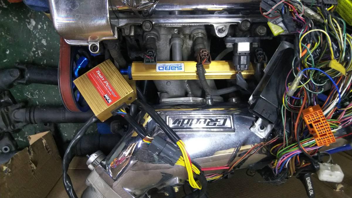 2JZ-GTE(vvtiなし)エンジン、ミッション、T78-29Dタービン、クラッチ、Vプロ、ドライブシャフトなど一式_画像2