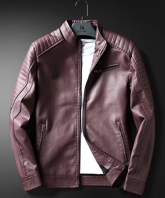 本革 上層牛革100% レザーウエア アウター メンズ ジャケット 極美品 オートバイジャケット ライダースジャケット ショートコート 高品質2