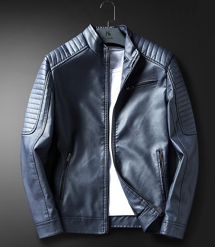 本革 上層牛革100% レザーウエア アウター メンズ ジャケット 極美品 オートバイジャケット ライダースジャケット ショートコート 高品質3