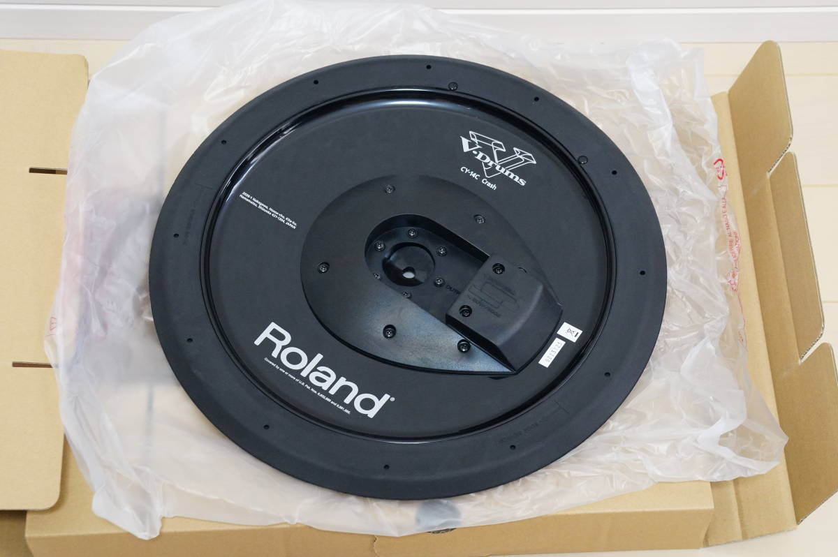 ☆新品 未使用☆ ROLAND ローランド CY-14C ☆ 電子 ドラム デジタル クラッシュ シンバル パッド Vdrums Vドラム_画像2
