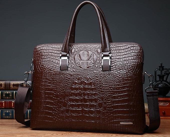 ワニ革 本革 クロコダイル 通勤バッグ ビジネスバッグ メンズ ハンドバッグ 新品2