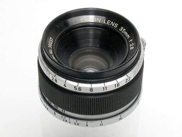 ☆キヤノン 35mm/2.8、Lマウント /難有・現状