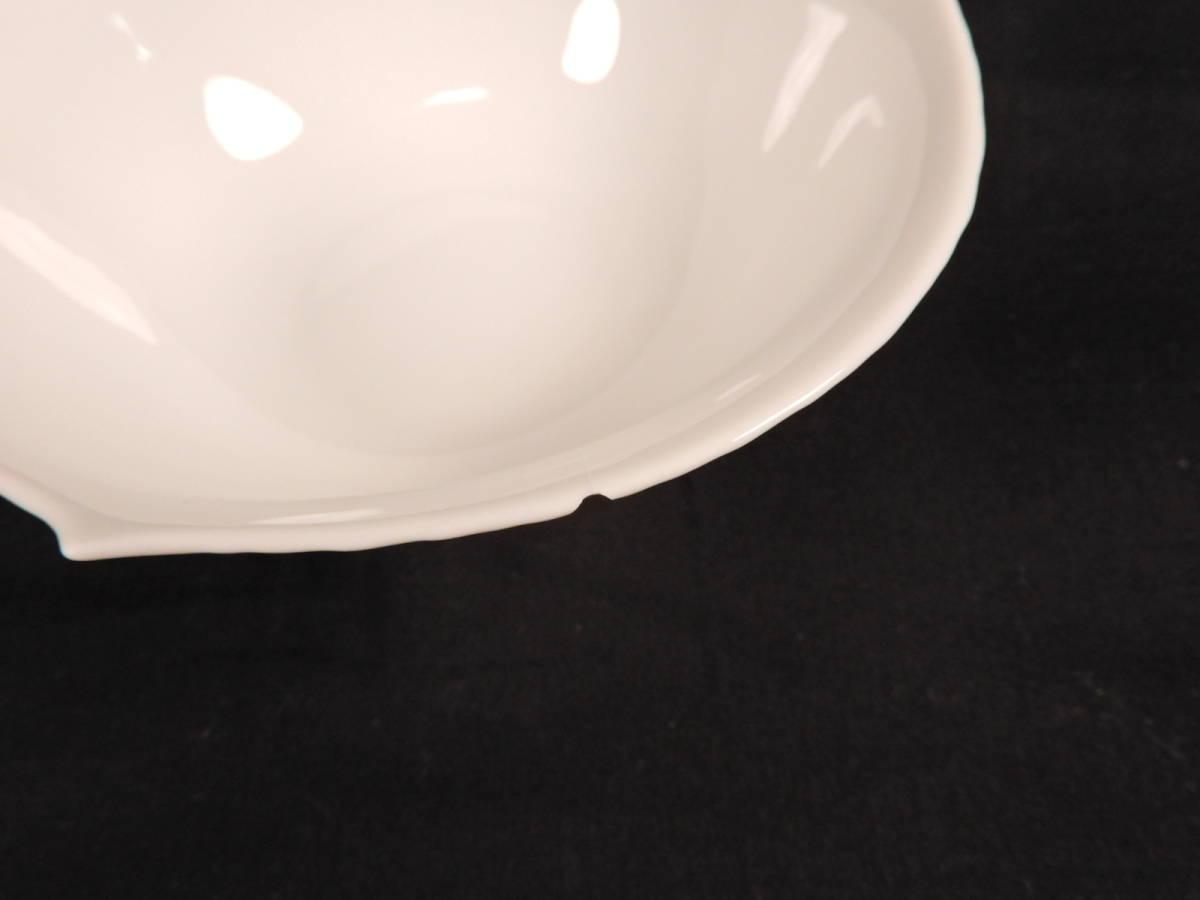 Meissen マイセン 波の戯れ ホワイト サラダボウル 5枚セット ブランド食器 _画像8