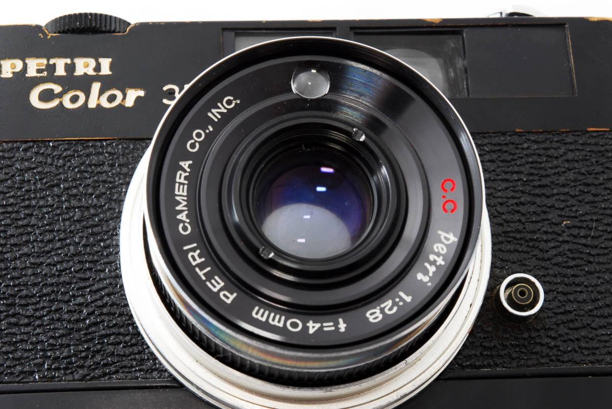 ★希少★ペトリ PETRI Color 35 40mm F2.8 ブラック #2862_画像8