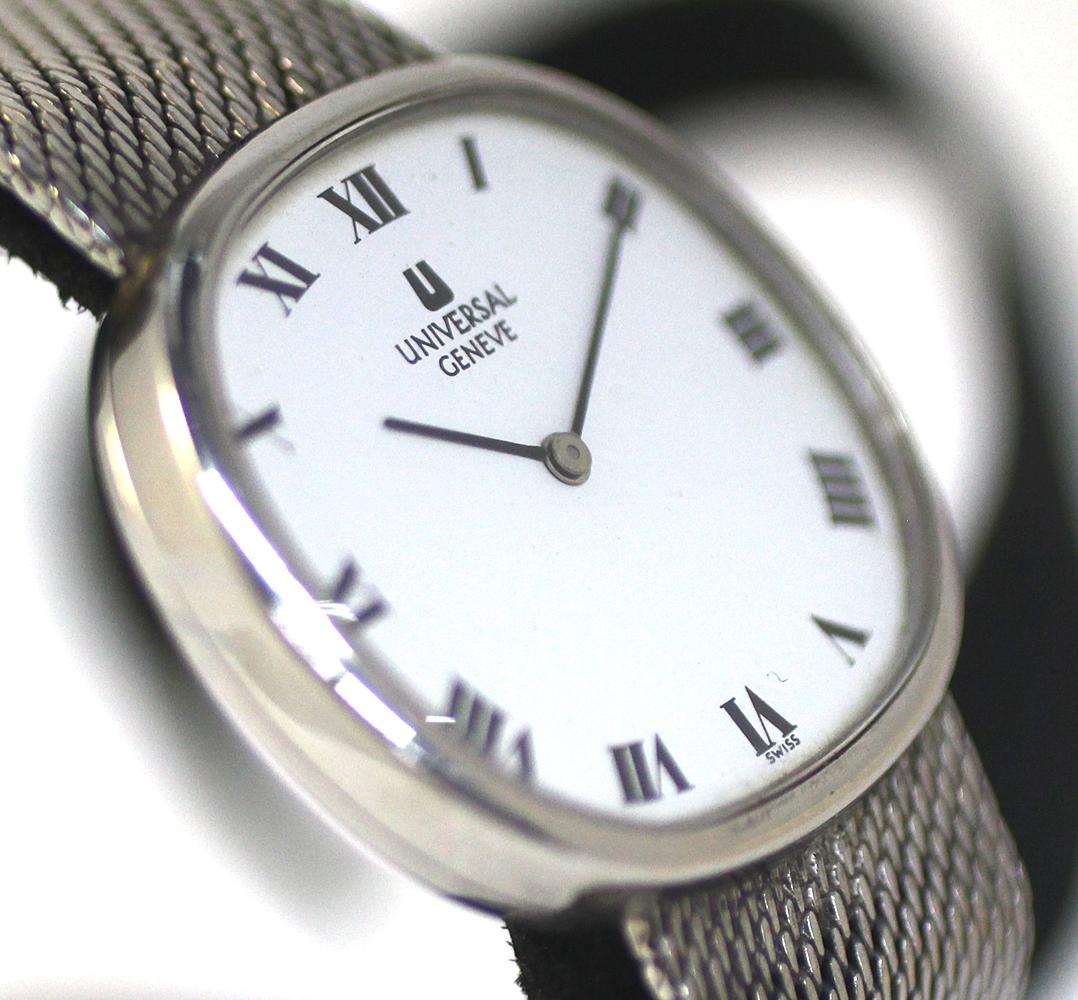 【UNIVERSAL GENEVE】ユニバーサルジュネーブ 腕時計 ホワイトダイヤル メンズ 17石 手巻き 管理番号 O-5.15_画像4