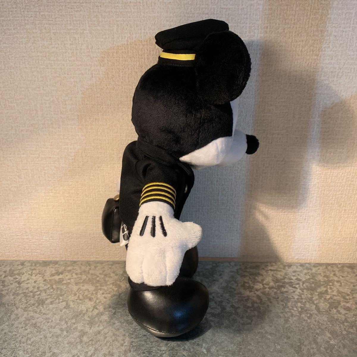 非売品★JAL パイロット ミッキー オリジナル ぬいぐるみ JCB 制服 キャンペーン ノベルティ レア_画像2