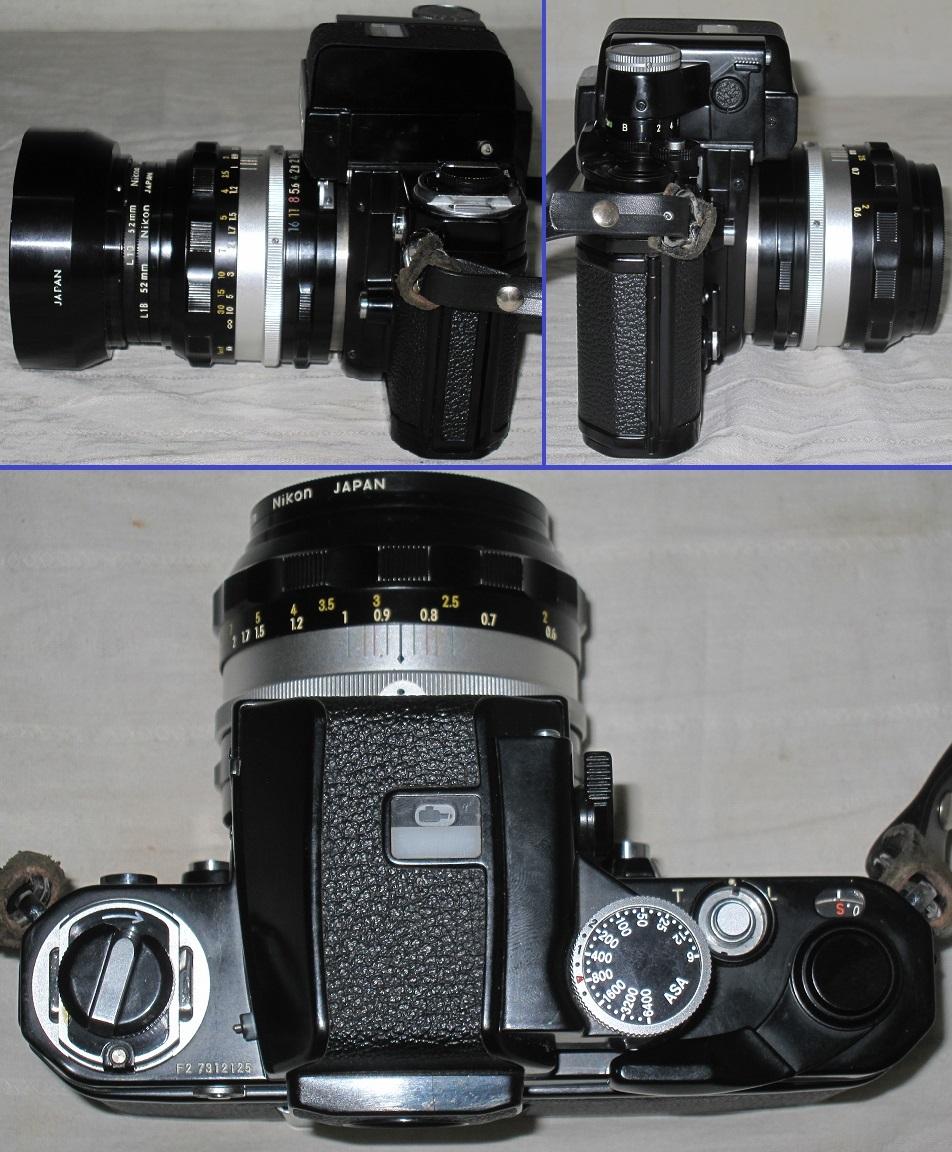 Nikon/ニコン 一眼レフ カメラ F2 おまけ:フラッシュ+望遠レンズ付き フォトミック/フィルム カメラ_画像3