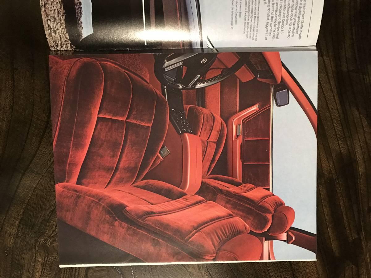 MERCURY/ 1984 マーキュリー/ 自動車カタログ/ アメリカ版/ US版/ 国内在庫品/ COUGAR/クーガー_画像4