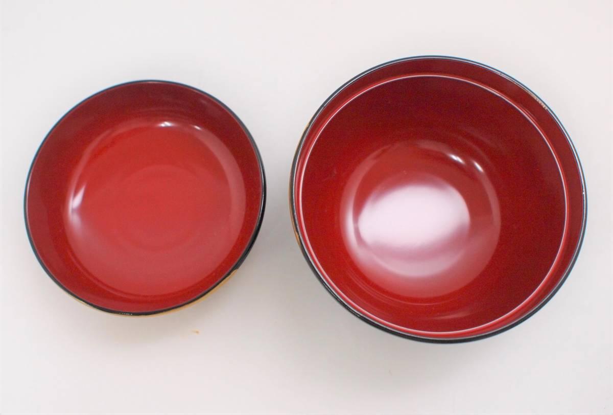 (M5) 会津塗り 本漆塗り お吸い物碗 5客 セット 共箱_画像6