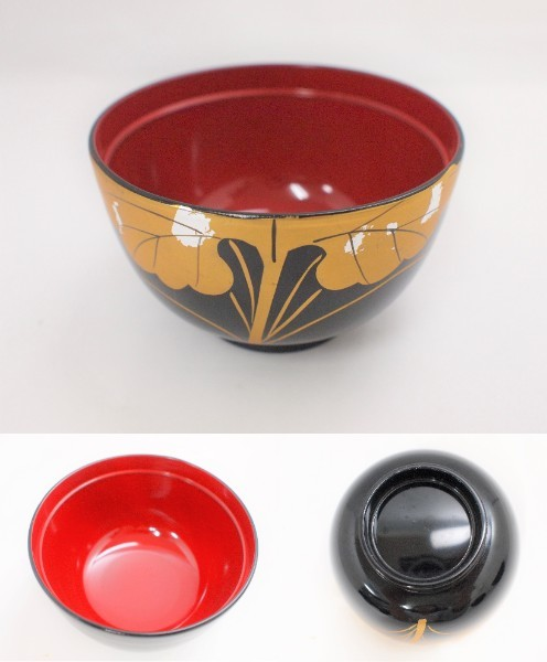 (M5) 会津塗り 本漆塗り お吸い物碗 5客 セット 共箱_画像3