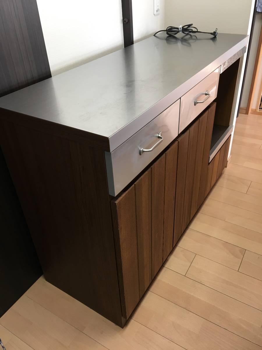 ★unico ウニコ STRADA ストラーダ キッチンカウンター W1200 食器棚 北欧 サイドボード キャビネット 収納家具 モダン レンジ台