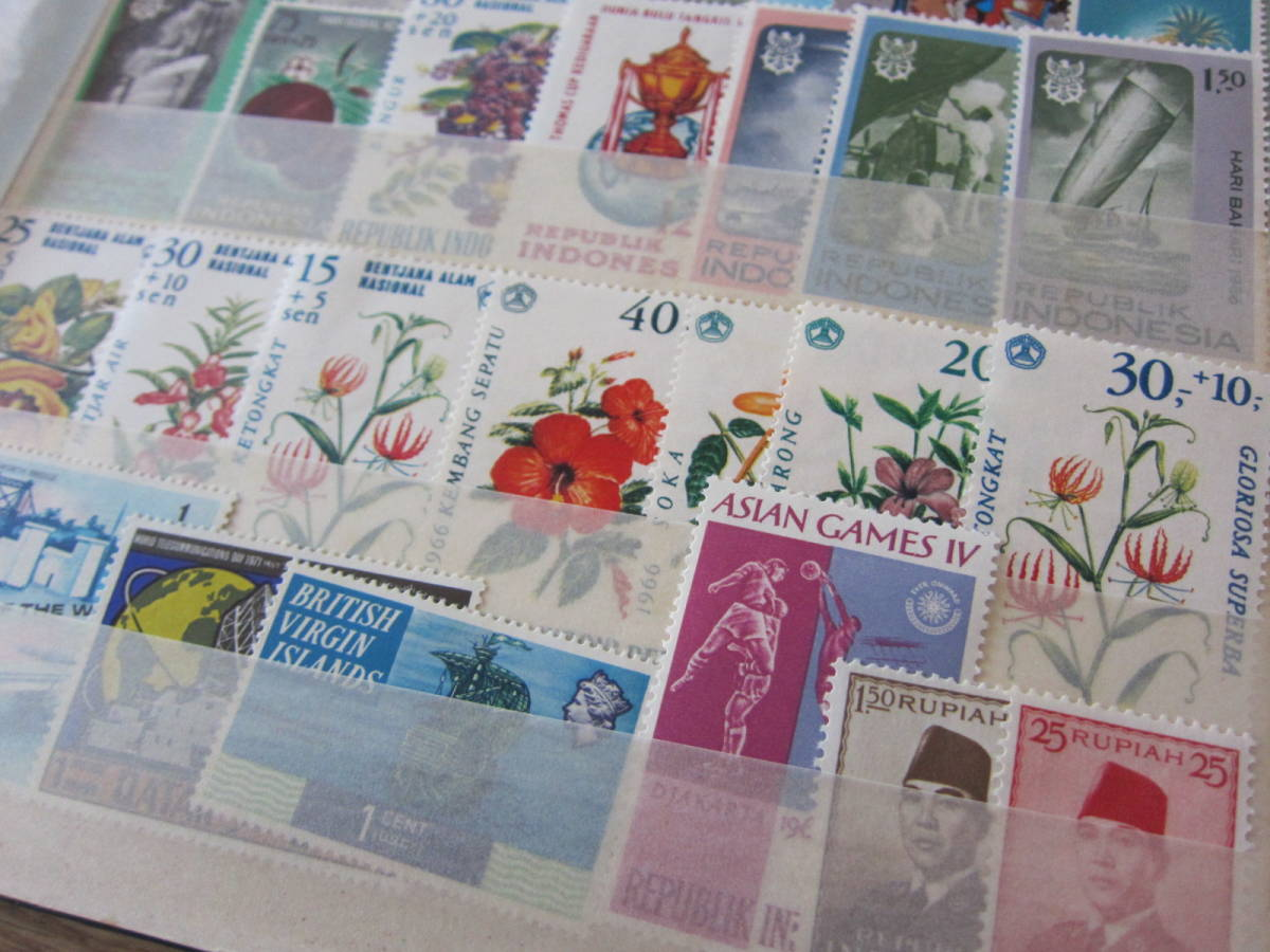 ★外国切手 未使用約100枚 済約650枚 国・年代いろいろ★_画像3