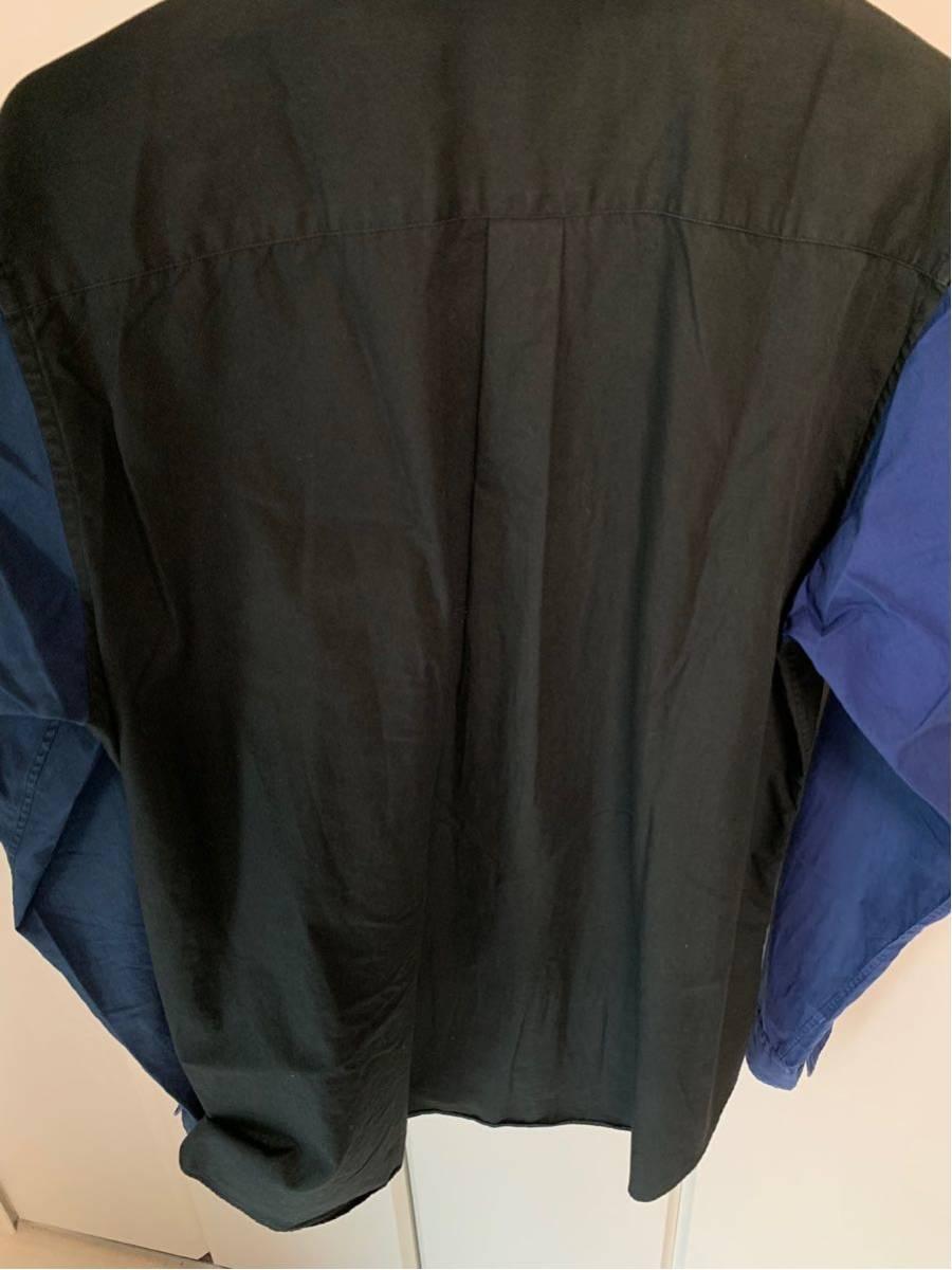 希少 ビンテージ COMME des GARCONS コムデギャルソン 長袖シャツ シャツ ドッキングシャツ 再構築デザイン 切替デザイン 配色 モード 黒 _画像7