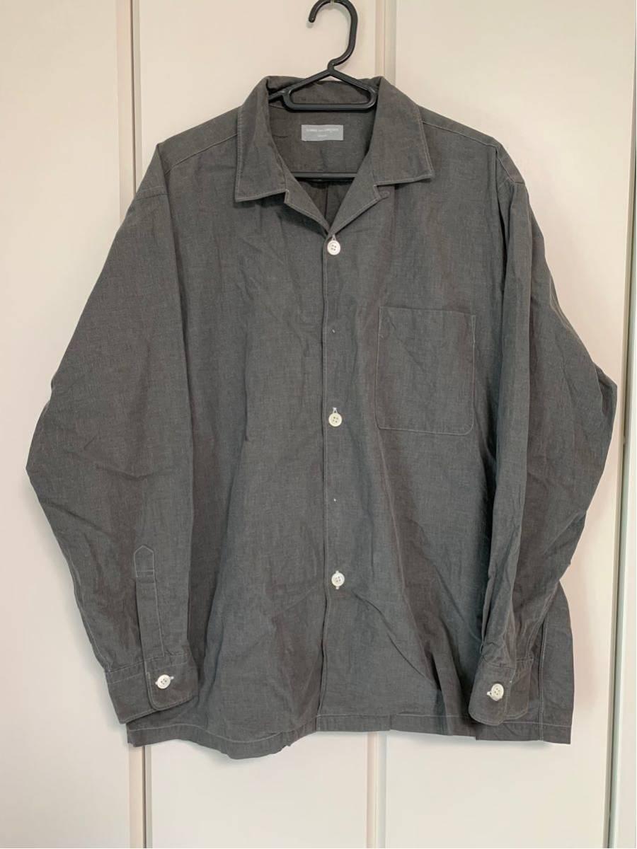 希少 ビンテージ COMME des GARCONS コムデギャルソン 長袖シャツ シャツ ステッチ デザイン オープンカラーシャツ ボタンデザイン ◎